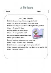 English Worksheets: at the clinic