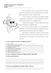 English Worksheet: Finding Nemo - film activity