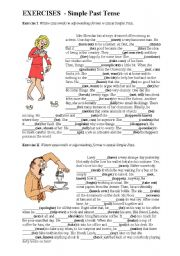English Worksheets: Simple Past - gap filling
