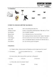 English Worksheets: Harry Potter and the Goblet of fire