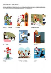 English Worksheets: Hypothetical situations