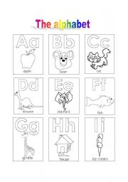 English Worksheet: THE ALPHABET