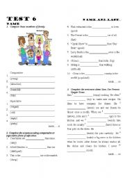 English Worksheet: Test comparison of adjectives, present simple and present continuous