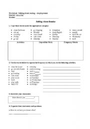 English Worksheet: Simple Present - routine - complete exercises