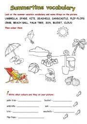summer vacation vocabulary full version esl worksheet by zeberka. Black Bedroom Furniture Sets. Home Design Ideas