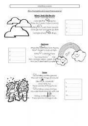 English Worksheet: Weather poems