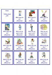 English Worksheet: Game - Jobs