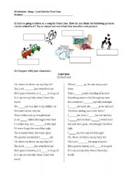 English Worksheet: Song - Last Kiss by Pearl Jam
