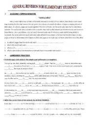 English Worksheet: General revision for elementary students.