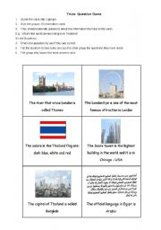 English Worksheets: Trivia - Question Game
