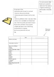 English Worksheets: A letter from Dan- reading comprehension