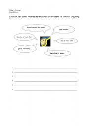 English Worksheet: Will and going to
