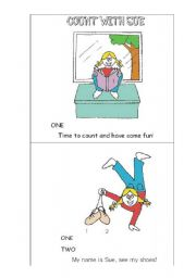 English Worksheet: Practicing the numbers with rhymes - Count with Sue