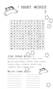 soup of letters classroom vocabulary esl worksheet by fabiola salinas. Black Bedroom Furniture Sets. Home Design Ideas