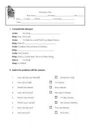 English Worksheets: Verb to be and questions