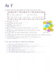 English Worksheets: As  ...if