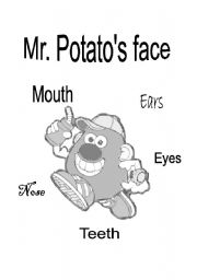English Worksheet: Mr. potato�s face