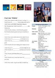 English Worksheets: �Wishlist� by Pearl Jam