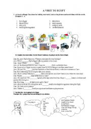 English Worksheet: A Visit to Egypt
