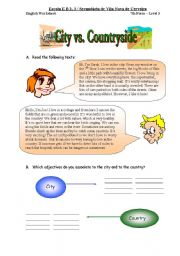 English Worksheet: City vs. Countryside