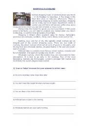 English Worksheets: reading comprehension and vocabulary worksheet