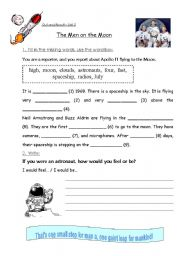 Printables Moon Worksheets english teaching worksheets the moon men on moon