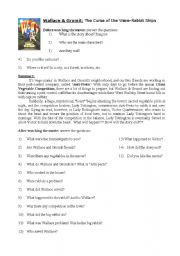 English Worksheets: Wallace & Gromit: The Curse of the Were-Rabbit Ships