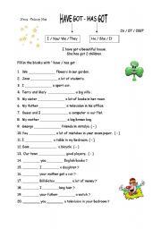 English Worksheet: have got - has got