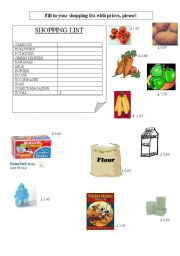English worksheet: Let´s go shopping!