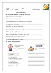 English Worksheets: Polite Question