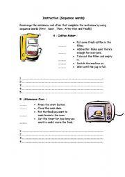 English Worksheets: Instruction