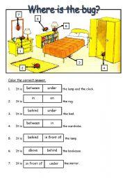 Preposition Esl Worksheet By Amizaki