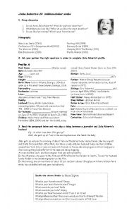 English Worksheets: Julia Roberts�s 20 million dollar smile