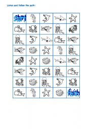 English Worksheet: SEA ANIMALS PART 3
