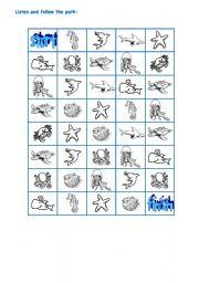 English Worksheets: SEA ANIMALS PART 3