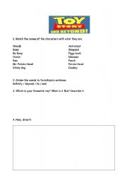English Worksheets: Toy Story