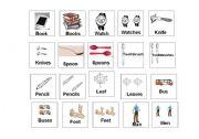 English Worksheets: Plural Memory Game
