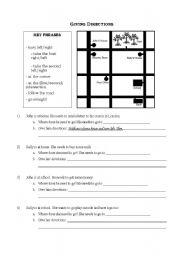 giving directions esl worksheet by shellie007. Black Bedroom Furniture Sets. Home Design Ideas
