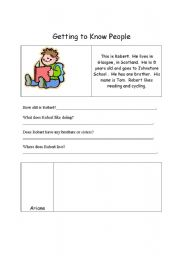 English Worksheets: Getting to know you (practise)