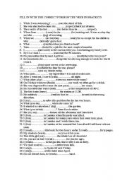 English Worksheets: REVISION OF TENSES