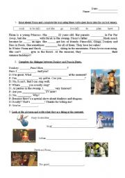 English Worksheet: Test - 5th form - Shrek