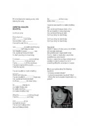 English Worksheet: Song: Beautiful by Christina Aguilera