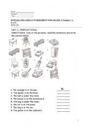 INTEGRATED SKILLS WORKSHEET FOR GRADE 3 (Number: 1)
