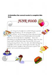 short note on junk food