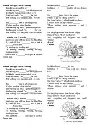 English Worksheet: song: Lemon Tree