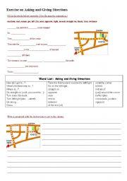 asking for giving directions worksheets. Black Bedroom Furniture Sets. Home Design Ideas