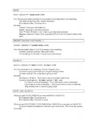 English Worksheet: Must / have to / needn�t