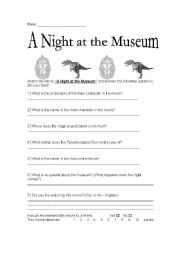 night at the museum worksheets. Black Bedroom Furniture Sets. Home Design Ideas