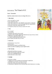 movie activity - The Wizard of OZ