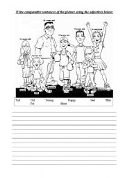 English Worksheet: Comparative